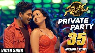 Private Party  Full Video Song    Sarrainodu     Allu Arjun , Rakul Preet, Catherine Tresa