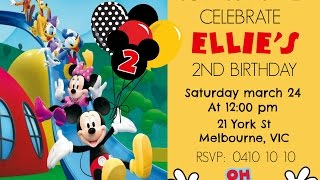 MICKEY MOUSE DIGITAL INVITATION HOW TO MAKE AT HOME DIY