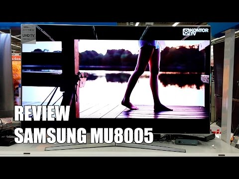 Review Samsung MU9000 - MU8005 Television 4K UHD HDR Smart TV 2017