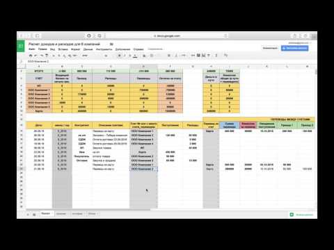 Видеообзор Google Таблицы