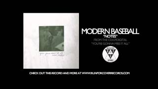 Modern Baseball - Notes (Official Audio)
