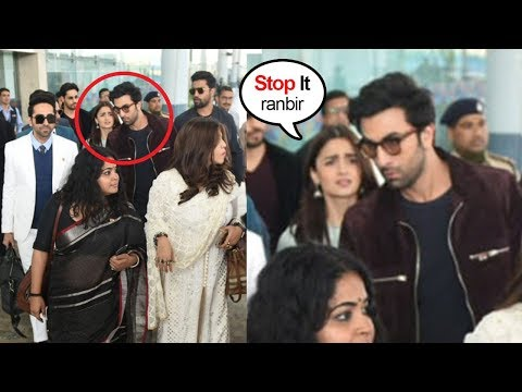 Ranbir Kapoor FIGHTS With Gf Alia Bhatt in Front of Ranveer Singh & Other Celebs At Delhi Airport