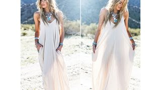 How To Make A Maxi Dress ( Easy Sewing Cloths)
