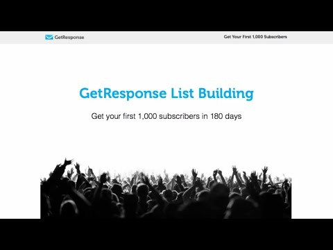 Welcome to the GetResponse List Building Program