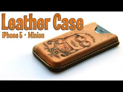 Cómo hacer una funda de cuero para iPhone || How to make an iPhone leather case