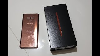 Samsung Galaxy Note 9 (Metallic Copper colour) - Unboxing
