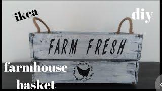 Diy Farm House Crate/diy Farm House Decor /diy Farm House Basket #ikea #farmhousedecor