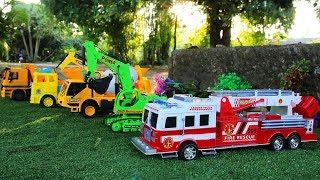 Toy Car Vehicles for Children | Fire Truck | Excavator | Truck | Cement Truck