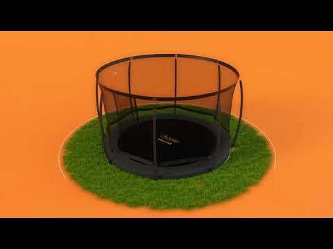 Avyna Pro-Line ronde flatlevel trampoline met veiligheidsnet - luxe