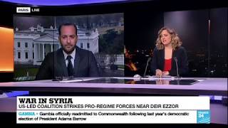Firas Maksad speaks about US strategy in Syria in the post-ISIS era with France 24