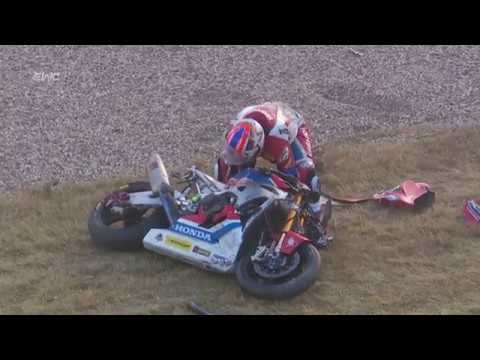 8H of Oschersleben - Impressive crash of Greg Leblanc Honda#111