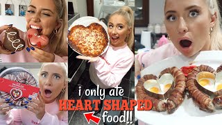 I only ate HEART SHAPED food for 24HOURS challenge!!