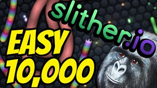 TROLLY WAYS TO GET 10,000 POINTS! | Slither.io gameplay