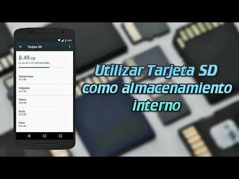 Cómo utilizar Tarjeta SD como almacenamiento interno - Android 6.0 superior