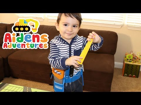 Just Like Home Workshop Tool Belt and Bucket Set Review & Unboxing | Kids Toy Tool Belt