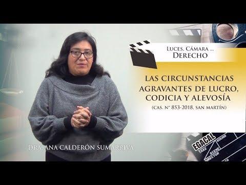 CIRCUNSTANCIAS AGRAVANTES DE LUCRO, CODICIA Y ALEVOSÍA - Luces Cámara Derecho 140 - EGACAL