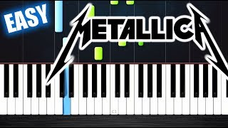 Metallica - Nothing Else Matters - EASY Piano Tutorial By PlutaX