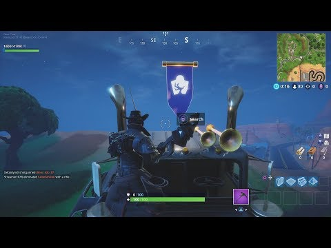 "Fortnite Battle Royale Season 6 Week 6 Secret Banner Location (""Hunting Party"" Challenges)"
