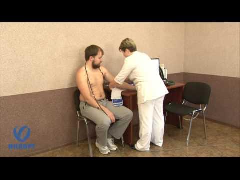 Наложение манжеты при холтеровском мониторировании артериального давления