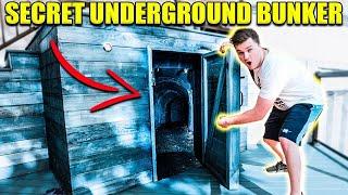 Exploring UNDERGROUND BOX FORT!! 😱📦Abandoned Safe & More!