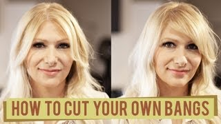 2 Ways to Cut your Own Bangs