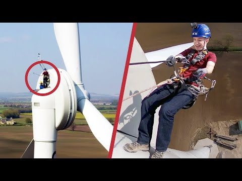 How do You Leave a Wind Turbine in an Emergency?