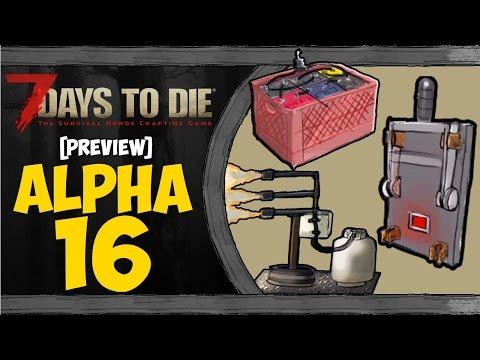 [PREVIEW] 7 Days To Die ᴴᴰ | ALPHA 16【Electricidad, Trampas, Tirolina, Nuevas Cuevas & Oso】PARTE 1