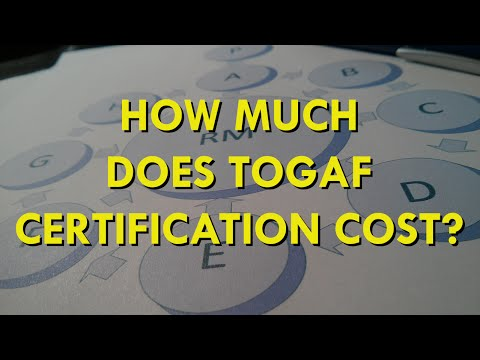 How Much Does TOGAF 9.1 Certification Cost? - YouTube