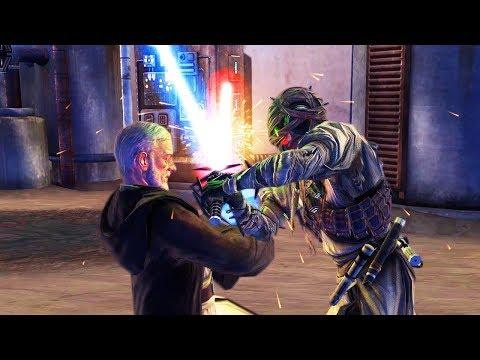 Boba Fett Fight + Lightsaber Duel Vs Obi-Wan Kenobi (Star Wars: The Force Unleashed)