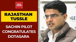Sachin Pilot Congratulates Newly Appointed Rajasthan Congress Chief Dotasara - Download this Video in MP3, M4A, WEBM, MP4, 3GP