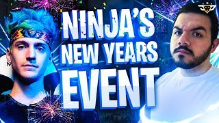 NINJA'S NEW YEARS EVENT! TIM HIJACKS MY STREAM! (Fortnite: Battle Royale)