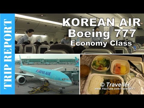 TRIP REPORT - Korean Air Economy Class flight - ICN - AMS - Boeing 777 Flight Review