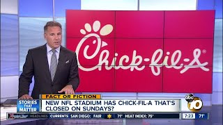 NFL stadium has Chick-fil-A closed on Sundays?