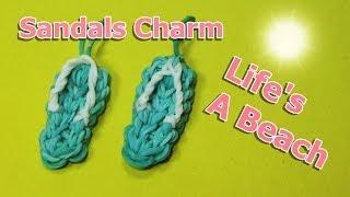 Rainbow Loom Charms: SANDALS / FLIP FLOPS