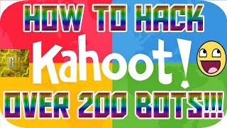 HOW TO SPAM KAHOOT WITH BOTS IN 2018 STILL WORKING