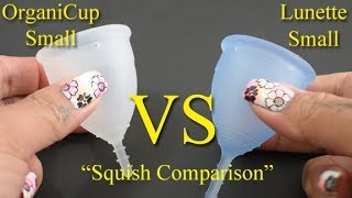 """OrganiCup vs Lunette Cup Sm """"Squish"""" - Menstrual Cups"""