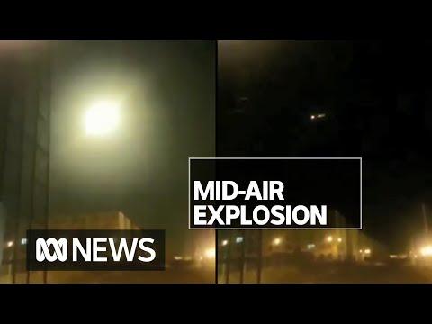Footage of Ukrainian plane exploding mid-air emerges as intelligence blames Iran   ABC News