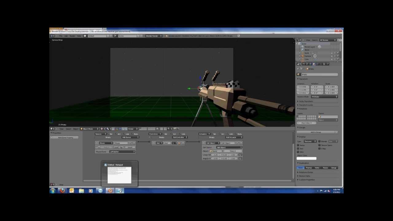 Blender shooting tutorial (1080p) (for 2.58)