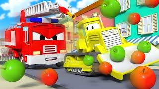 Авто Патруль - Украденные яблоки - Автомобильный Город 🚓 🚒 детский мультфильм