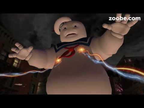 Marshmallow man sings the original Ghostbusters song