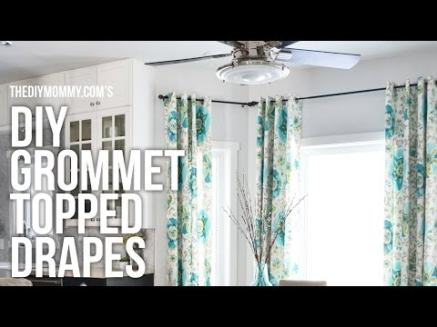 DIY Grommet Top Drapes // My favourite style of curtains to make!