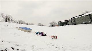 Cinematic FPV matress sledding / crash / fun day out