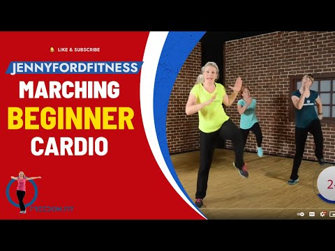 30 Minute- Marching Workout with Cardio Bursts (Walking at Home) Beginner