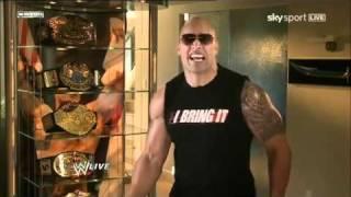 WWE Raw 2/28/11 - The Rock Response to John Cena's Rap