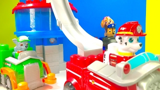 Best Learning Colors Video for Children  - Building Paw Patrol Ionix Lookout Tower
