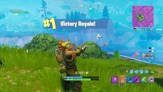 Fortnite Battle Royale | Victory Royale Using The Dinosaur