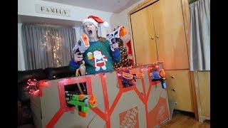 Nerf Box Fort Christmas Battle