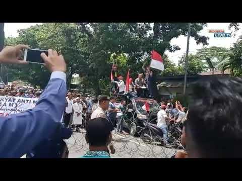 Aksi Unjuk Rasa di Medan Polisi Siaga