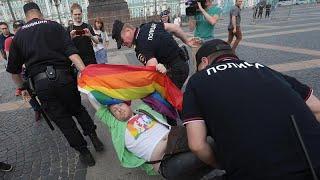 Többeket őrizetbe vettek a szentpétervári pride-on
