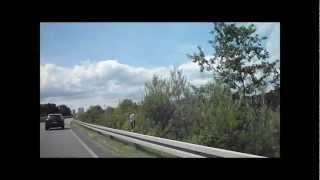 preview picture of video 'Autofahrt nach Eltville am Rhein (als Beifahrer !)'